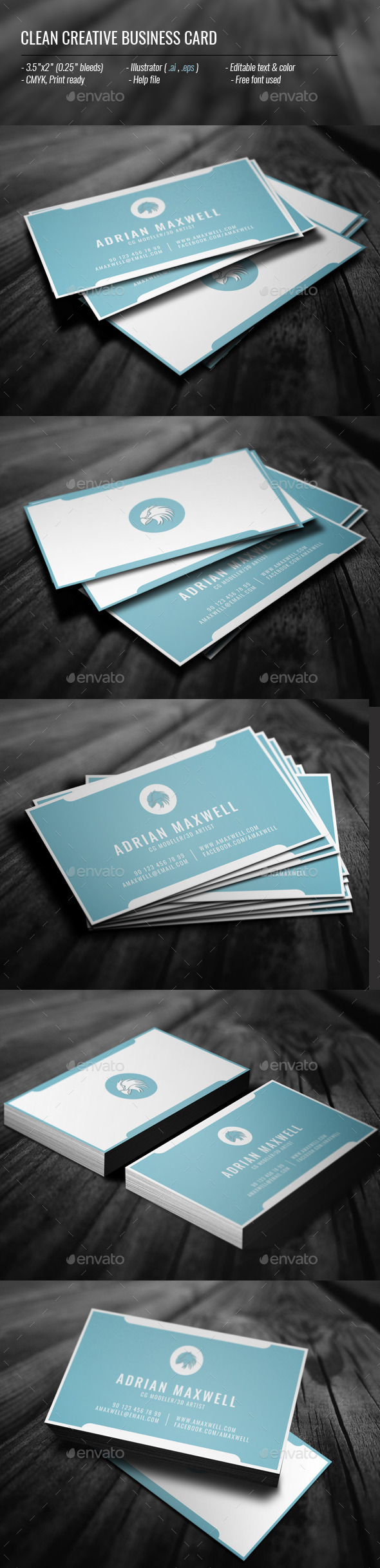 GraphicRiver Clean Creative Business Card 11773543