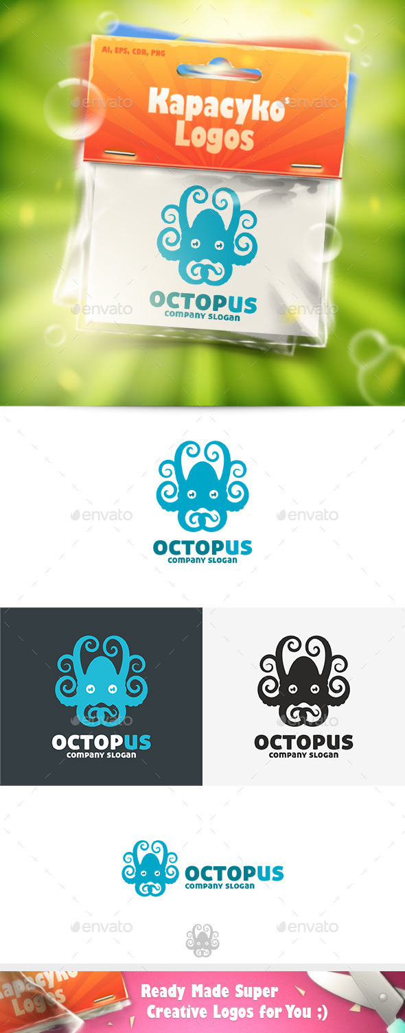 GraphicRiver Octopus Logo 11773546