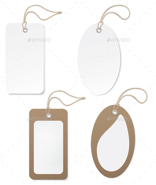 GraphicRiver White and Brown Paper Price Tags 11761551