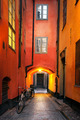 Narrow alley in Stockholm - PhotoDune Item for Sale