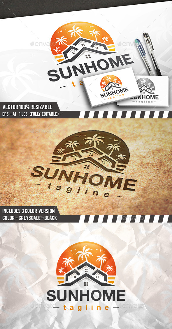 GraphicRiver Real Estate Beach Logo 11773799