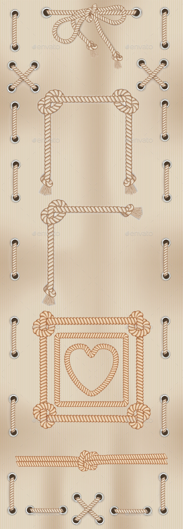 GraphicRiver Frames Made From Rope 11773816