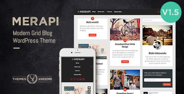 Download Merapi - Modern Grid Blog Theme nulled download