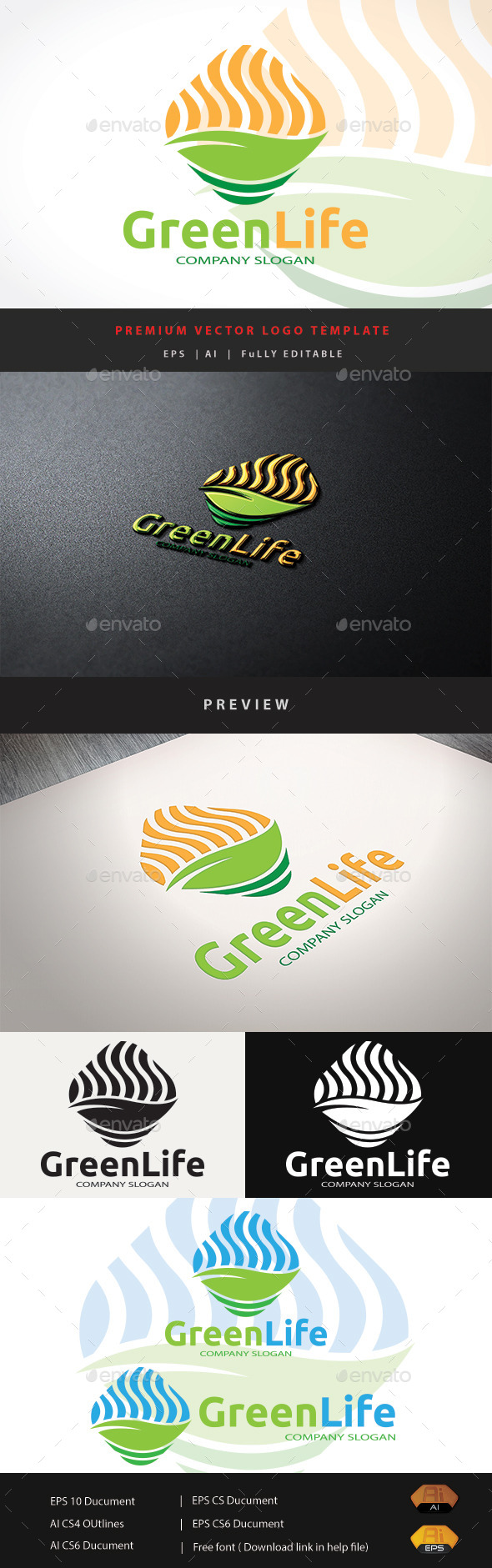 GraphicRiver Green Life 11774011