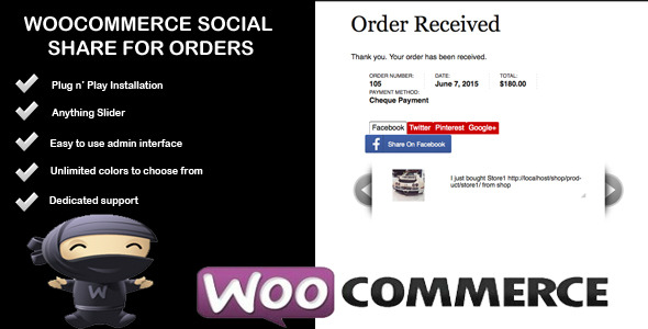 CodeCanyon Woocommerce Social Share For Orders 11774013