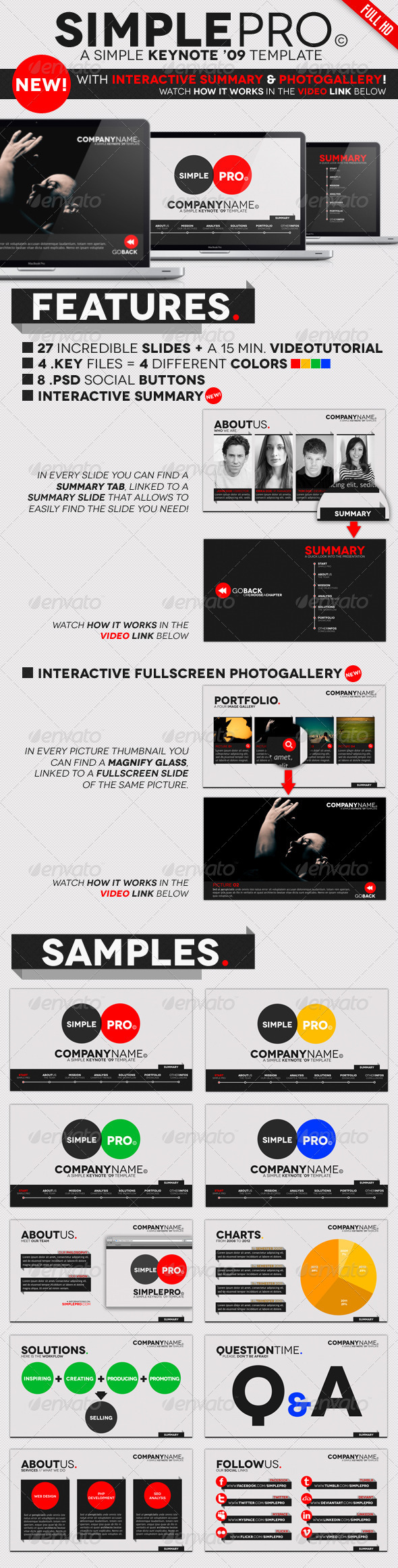 GraphicRiver Simple Pro Keynote Interactive Template 1165656