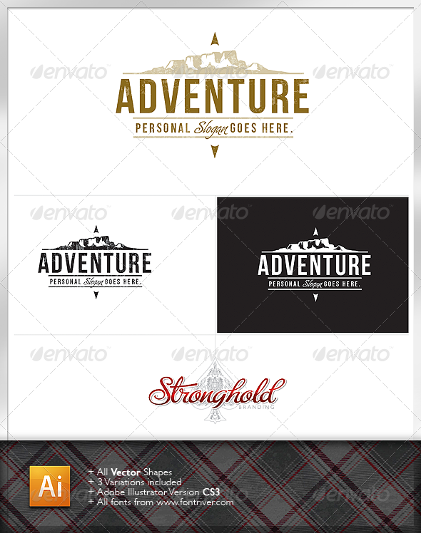 Adventure Mountain Logo - Nature Logo Templates