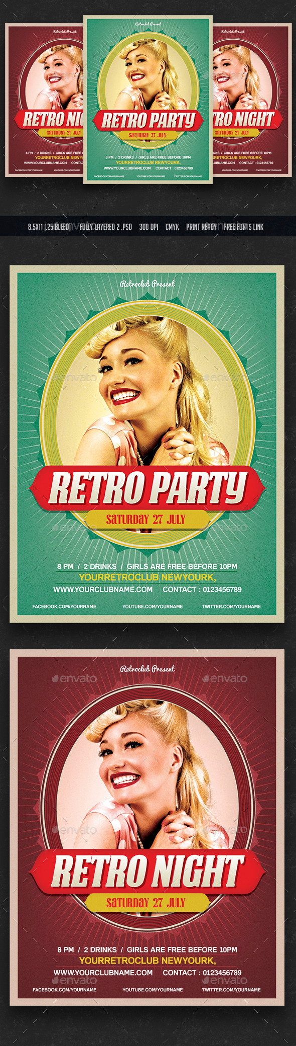 GraphicRiver Retro Party Flyer 11774439