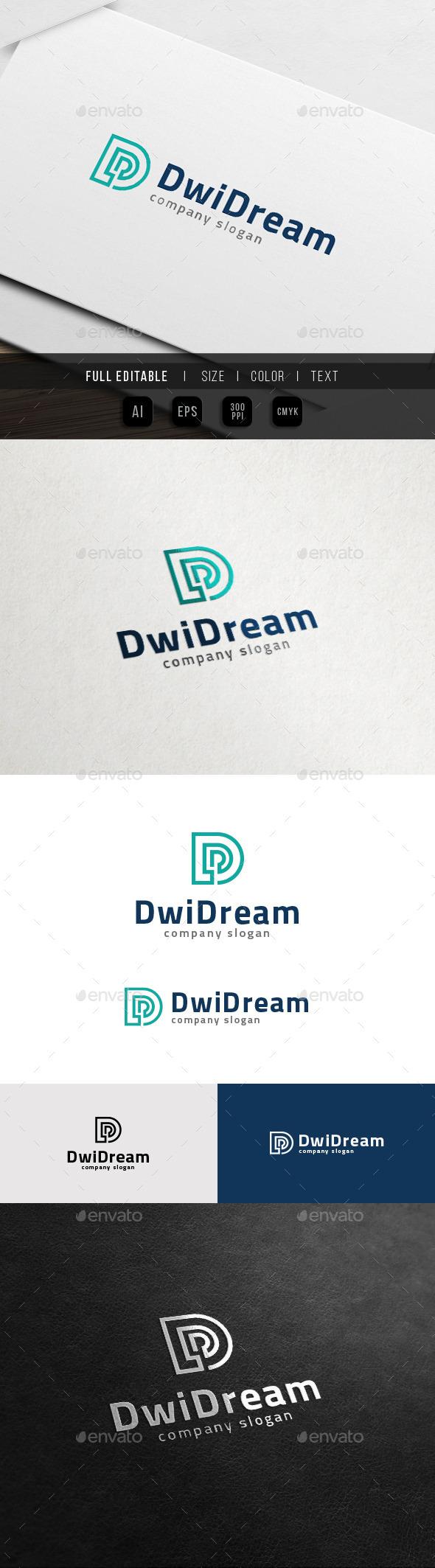 GraphicRiver D Logo Data Digital Dream 11774445