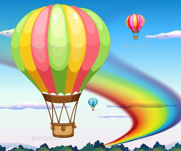 GraphicRiver Balloons and Rainbow 11774541