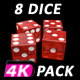 Dice Roll Red Transparent (8-Pack) - VideoHive Item for Sale