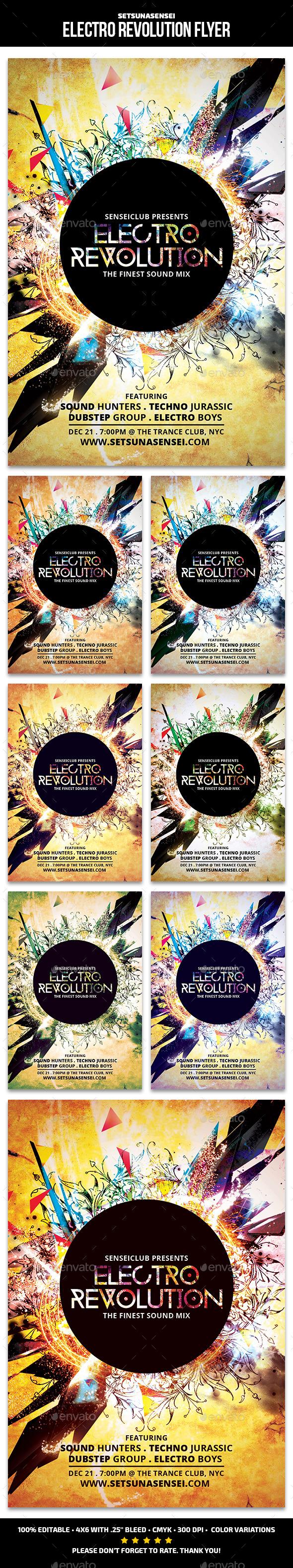 GraphicRiver Electro Revolution Flyer 11774798