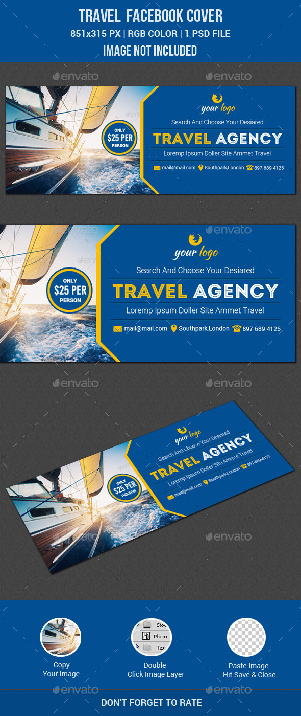 GraphicRiver Travel Facebook Cover 11774831