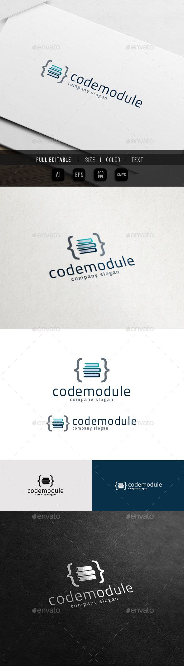 GraphicRiver Coding Tutorial Website Online Course Logo 11774834