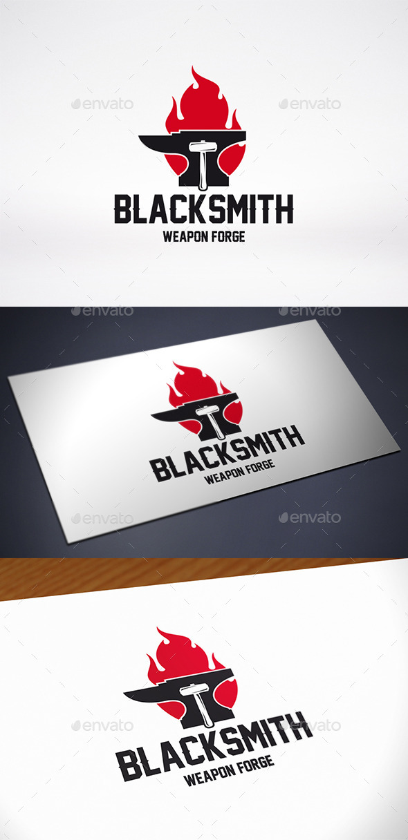 GraphicRiver Anvil Fire Logo Template 11774894