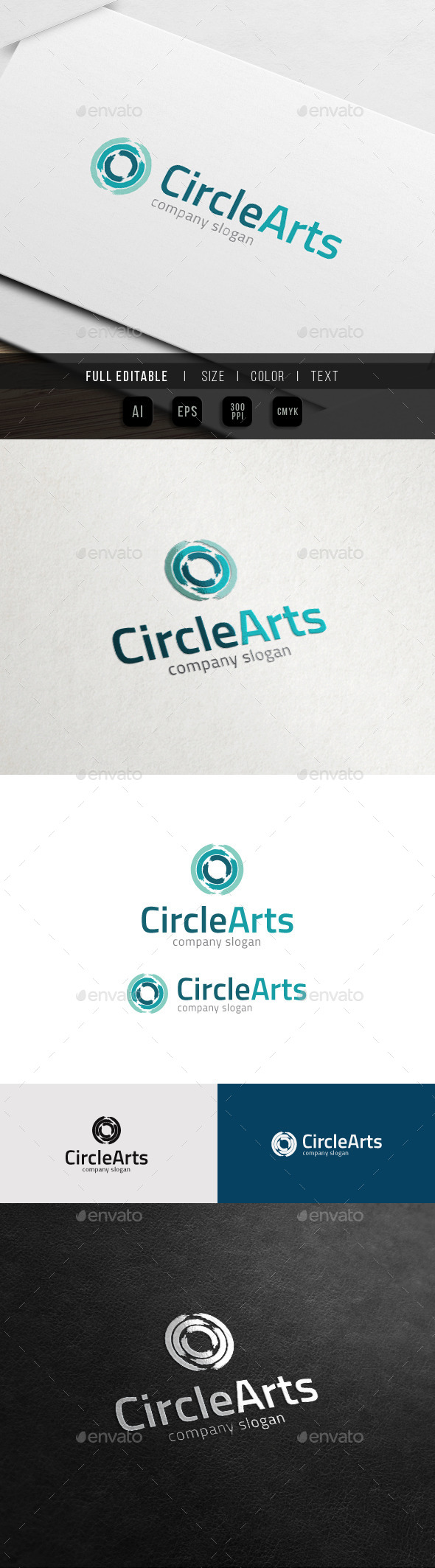 GraphicRiver Paint Brush Circle Open Art Galery 11774896