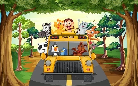 GraphicRiver Animals and Bus 11774999