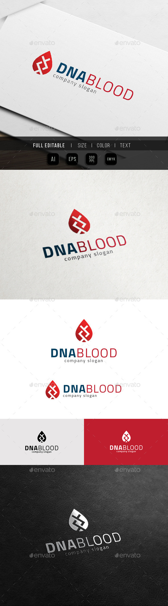 GraphicRiver DNA Blood Bio DNA Lab Logo 11775006