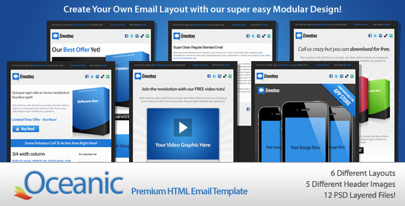 ThemeForest Oceanic Email 144507