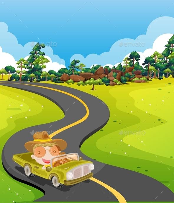 GraphicRiver Car Trip 11775040