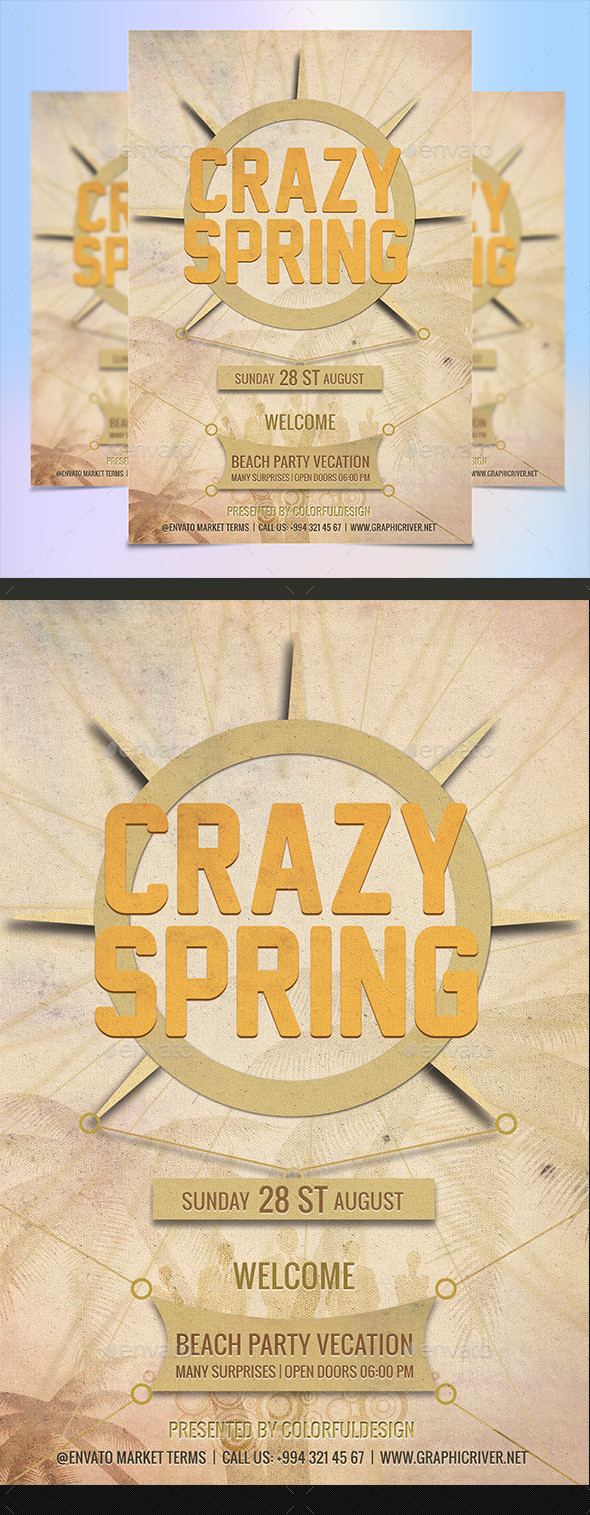 GraphicRiver Spring Break Flyer Template 11775060