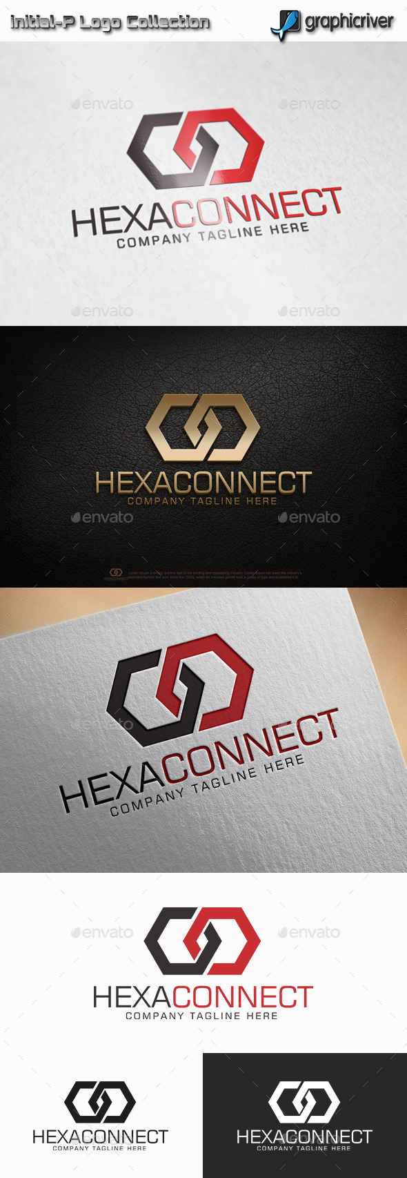 GraphicRiver Hexa Connect Hexagon Logo 11775112