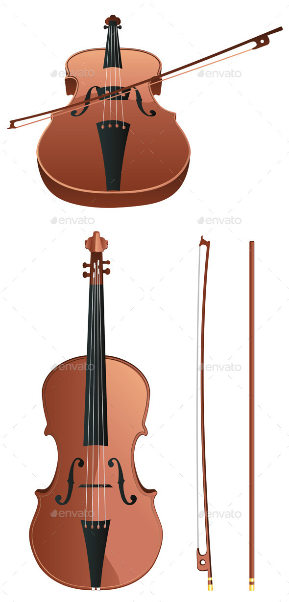 GraphicRiver Violin with Bow 11775514