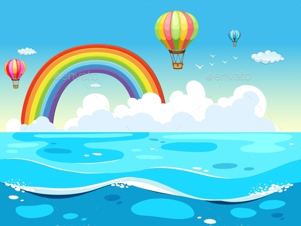 GraphicRiver Ocean and Rainbow 11775795