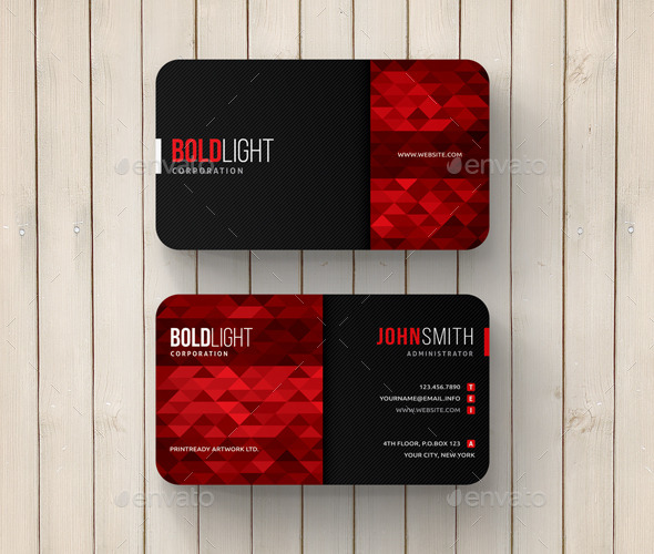 GraphicRiver Geometric Abstract Business Card 11775803