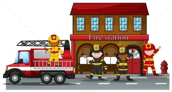 GraphicRiver Fire Station 11775853