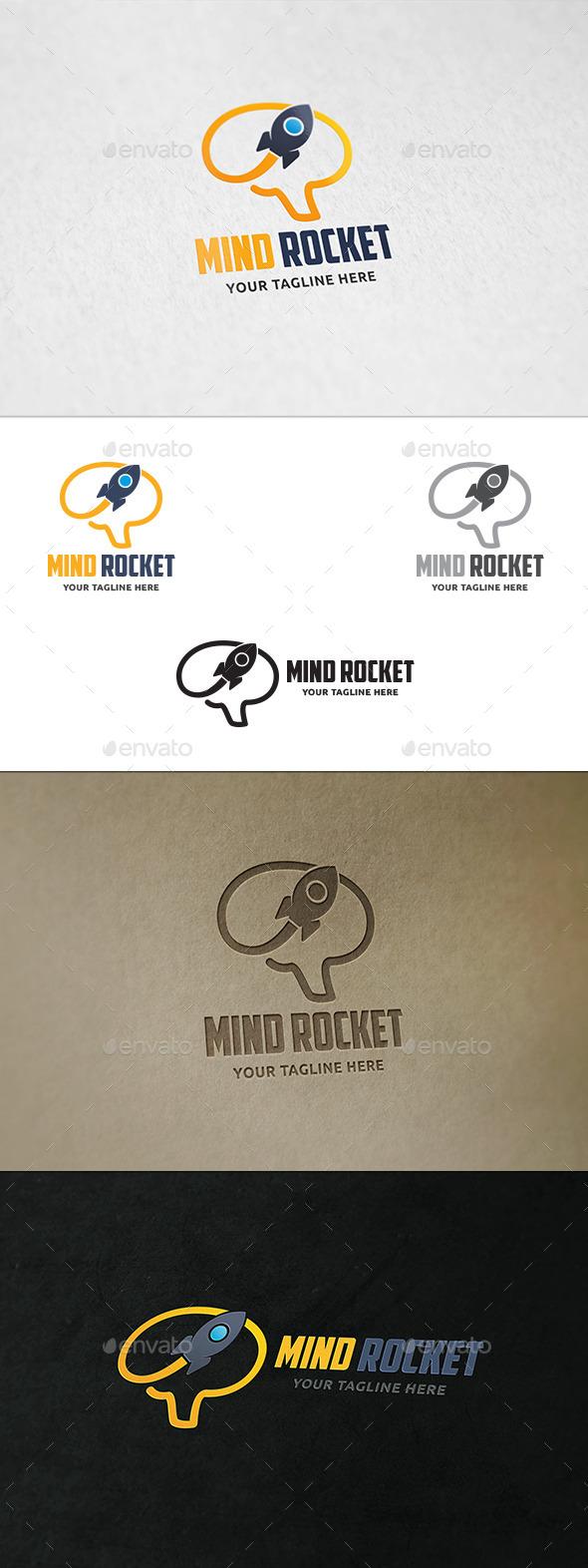 GraphicRiver Mind Rocket Logo Template 11776088