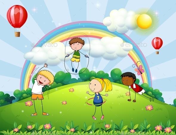 GraphicRiver Children and Park 11776091