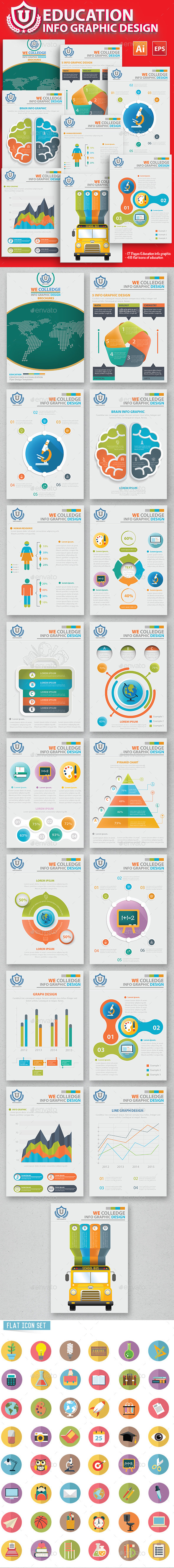 GraphicRiver Education Infographic 17 Pages Design 11776114