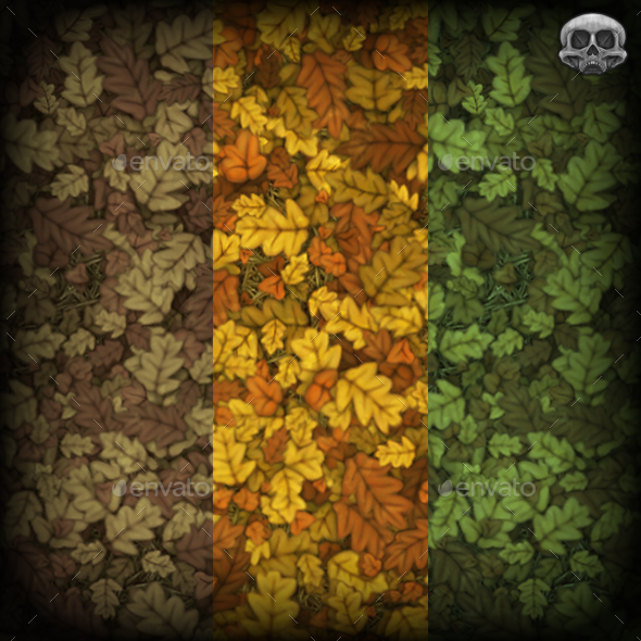 Fallen Leaves Tiling Texture - 3DOcean Item for Sale