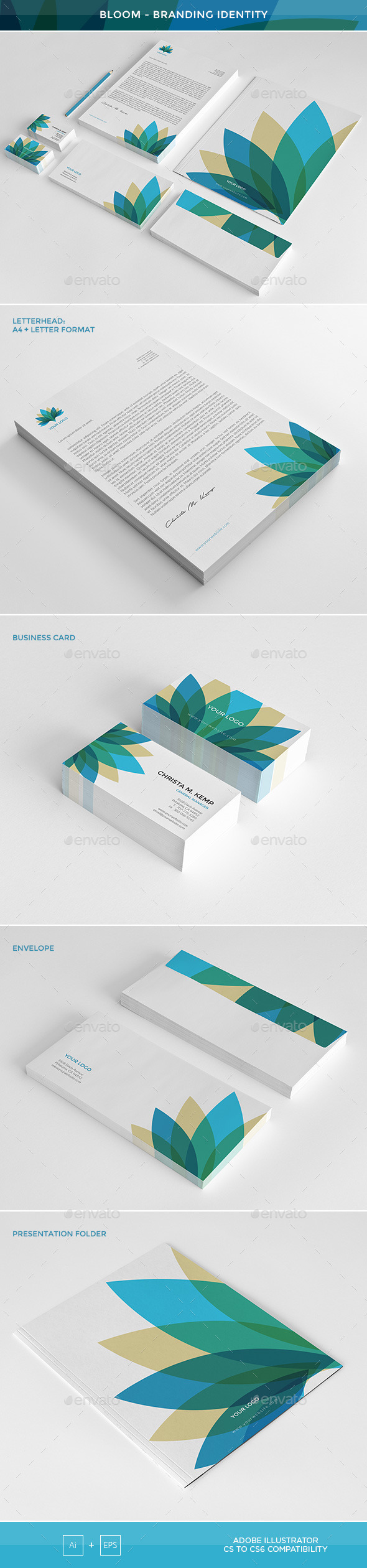 GraphicRiver Bloom Branding Identity 11776441