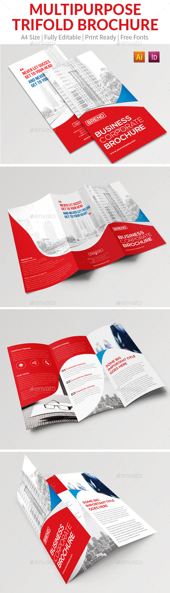 GraphicRiver Multipurpose Trifold Brochure 11775758