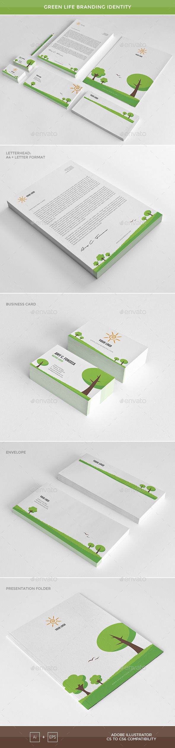 GraphicRiver Green Life Branding Identity 11776575
