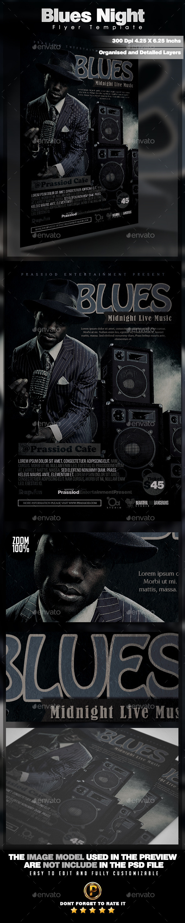 GraphicRiver Blues Night Flyer Template 11776779