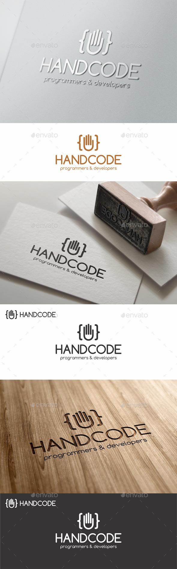 GraphicRiver Hand Code Studio Programming Logo 11776998