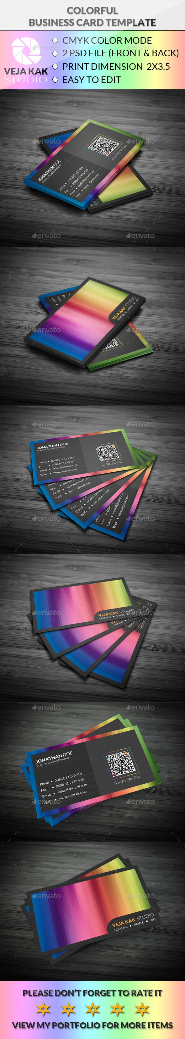 GraphicRiver Colorful Business Card 11777624