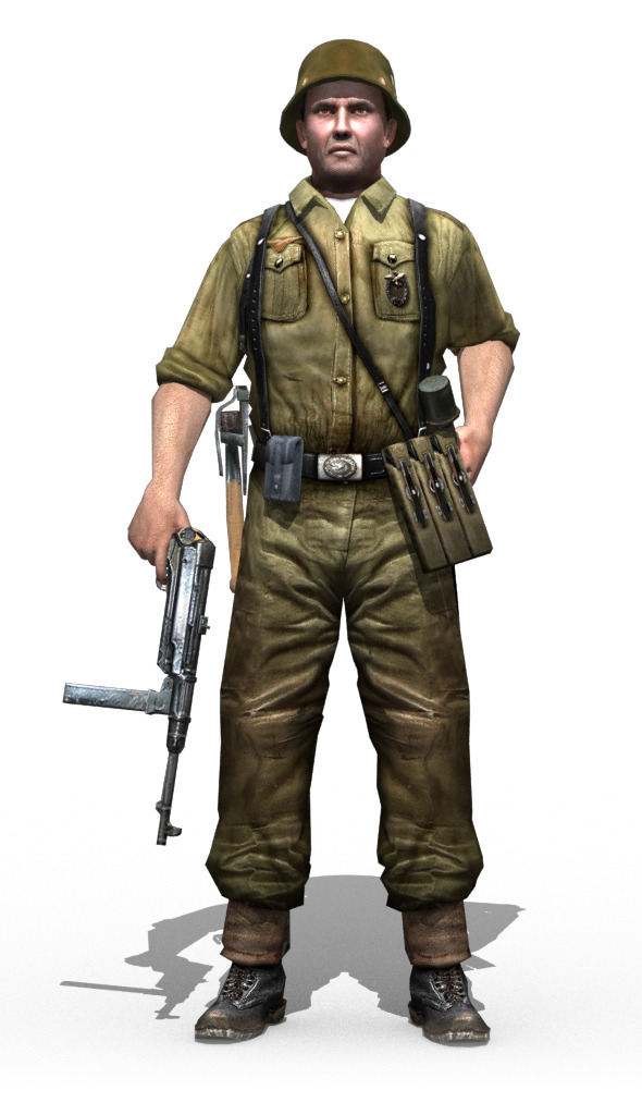 3DOcean WWII German Soldier 11777763
