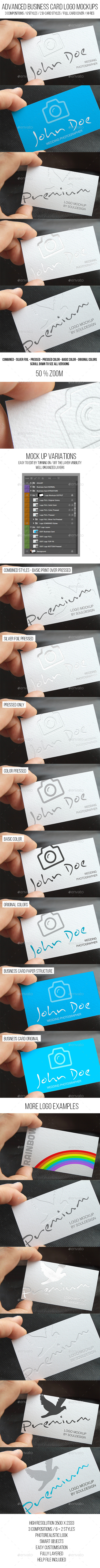 GraphicRiver Advanced Business Card Logo Mockups 11777998