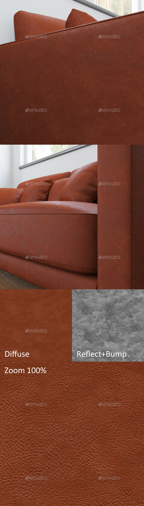 3DOcean Seamless texture of red leather 11778148