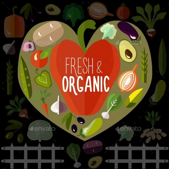 GraphicRiver Fresh And Organic Vegetables 11778188