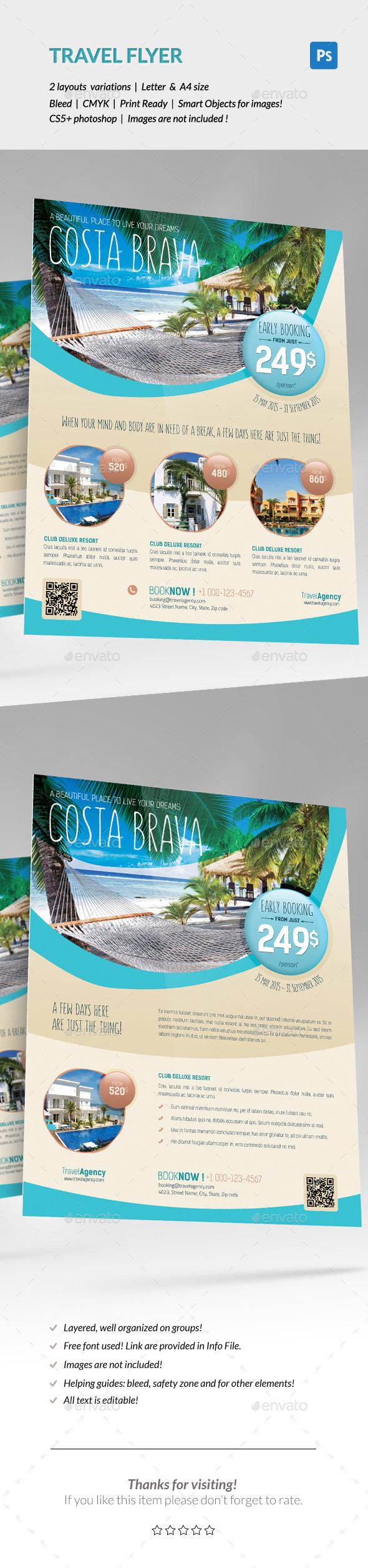 GraphicRiver Travel Holiday Flyer 11778227
