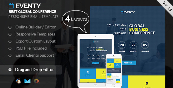 ThemeForest Best Conference Email Template & Builder Access 11616473