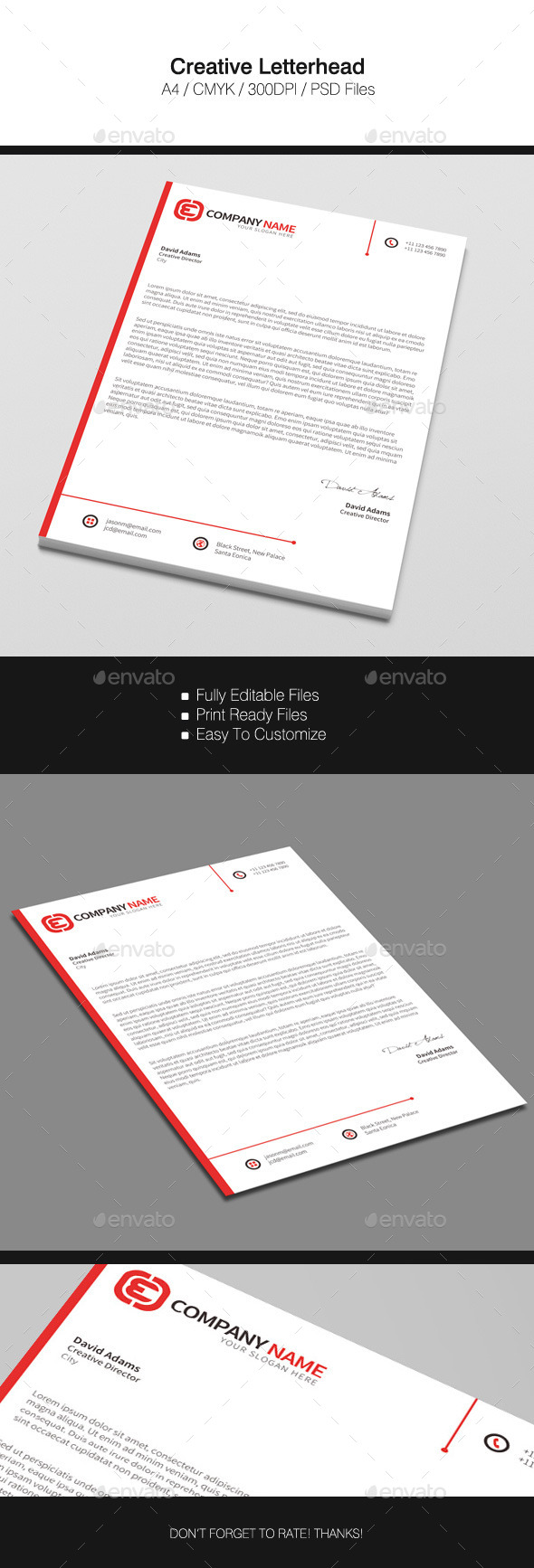 GraphicRiver Creative Letterhead 11778377