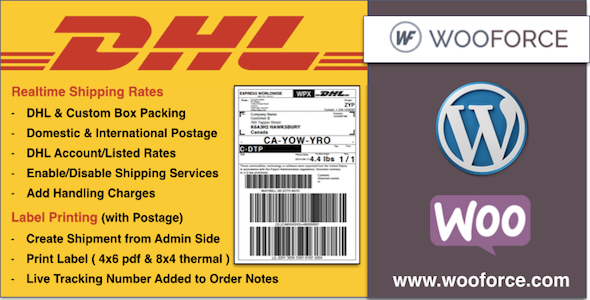 CodeCanyon DHL WooCommerce Shipping with Print Label 11778778