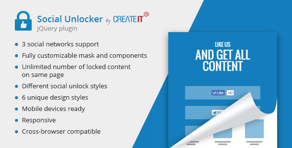 jQuery Social Unlocker  (Social Networks) Download