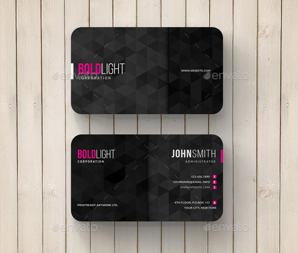 GraphicRiver Geometric Abstract Business Card 11778819